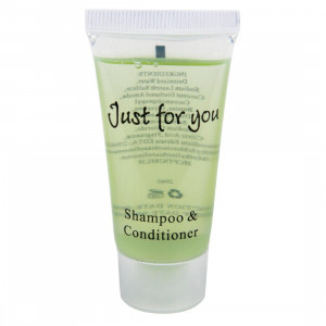 Shampoing / après-shampoing 20 ml Just for you - Lot de 100 Shampoing / après-shampoing 20 ml Just for you - Lot de 100