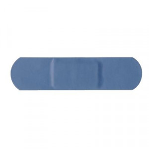 Lot de 100 pansements bleus standards