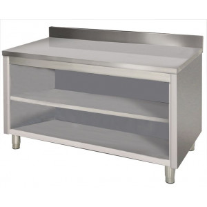 Placard inox ouvert central 600 x 1500 mm