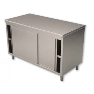 Placard inox mural portes coulissantes 800 x 1400 mm