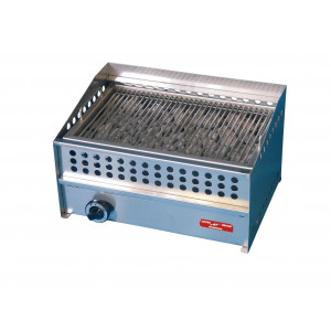Barbecue charcoal professionnel pierre volcanique à gaz - 490 x 310 mm