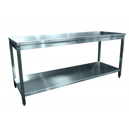 Table inox centrale 1800 x 600 mm Table inox centrale