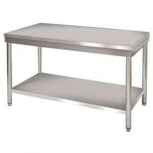 Table de travail centrale en inox - 700 x 850 mm