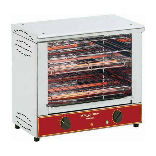 Toaster professionnel 300 toasts / heure Toaster professionnel super bar grill - 2 niveaux
