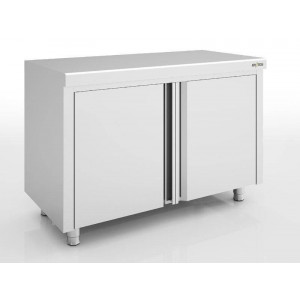 Placard inox central portes battantes ERATOS 700 x 600 mm
