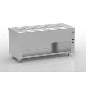 Meuble bain-marie sec ERATOS  - 700 x 2000 mm