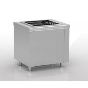 Distributeur de casiers de lavage 500 x 500 mm en inox satiné ERATOS