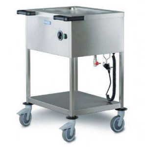 Chariot bain marie 1 cuve professionnel électrique HUPFER - Pour 15 personnes Chariot bain marie 1 cuve professionnel électrique HUPFER - Pour 15 personnes