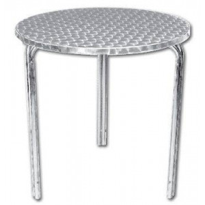 Table ronde de bistro empilable en inox BOLERO - 600 mm de diamètre