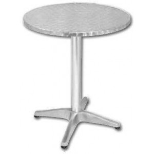 Table ronde de bistro en inox BOLERO - 700 mm de diamètre