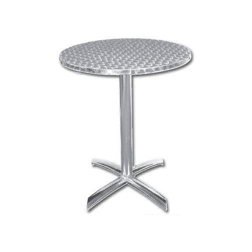 Table ronde pliante de bistro en inox BOLERO - 600 mm de diamètre