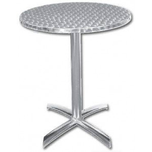 Table ronde pliante de bistro en inox BOLERO - 600 mm de diamètre Table ronde pliante de bistro en inox BOLERO - 600 mm de diamètre