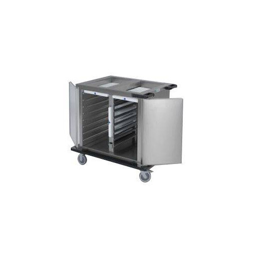 Chariot bain marie froid passif professionnel HUPFER - 2 x 7 niveaux GN 1/1 Chariot bain marie froid passif professionnel HUPFER - 2 x 7 niveaux GN 1/1