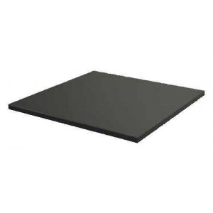 Plateau de table carrée anthracite LAMIDUR - 680 x 680 mm