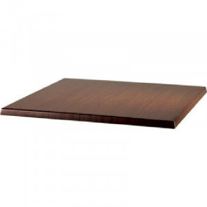 Plateau de table carrée rotin anthracite WERZALIT PLUS - 600 x 600 mm