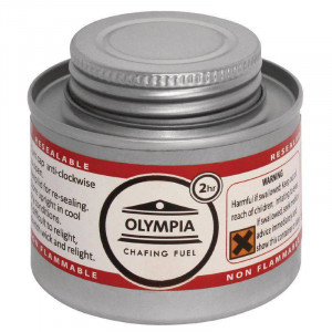 Combustible liquide OLYMPIA pour chafing dish 2h - Lot de 12