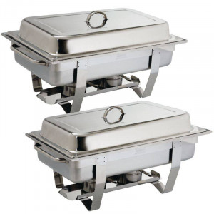 Chafing dish Milan GN 1/1 en inox professionnel OLYMPIA - Lot de 2 Chafing dish Milan GN 1/1 en inox professionnel OLYMPIA - Lot de 2
