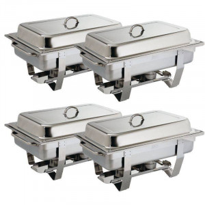 Chafing dish Milan GN 1/1 en inox professionnel OLYMPIA - Lot de 4 Chafing dish Milan GN 1/1 en inox professionnel OLYMPIA - Lot de 4