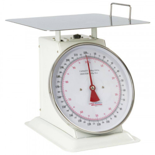 Balance professionnelle à plateau extra large en inox WEIGHTSTATION - 100 kg