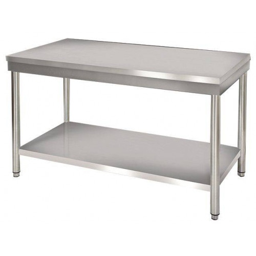 Table de travail centrale en inox 700 x 1500 mm