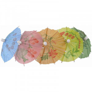 Parasols en papier colorés pour cocktails professionnels - Lot de 144 Parasols en papier colorés pour cocktails professionnels - Lot de 144