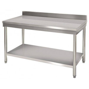 Table de travail murale en inox 700 x 1400 mm