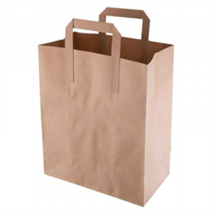 Lot de 250 sacs en papier kraft marron bio-dégradables - 255 x 215 x 115 mm Lot de 250 sacs en papier kraft marron bio-dégradables - 255 x 215 x 115 mm