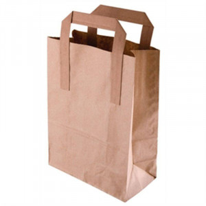 Lot de 250 sacs en papier kraft marron bio-dégradables - 270 x 250 x 160 mm Lot de 250 sacs en papier kraft marron bio-dégradables - 270 x 250 x 160 mm
