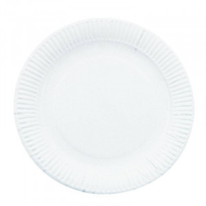 Lot de 250 assiettes en carton - 178 mm de diamètre Lot de 250 assiettes en carton - 178 mm de diamètre