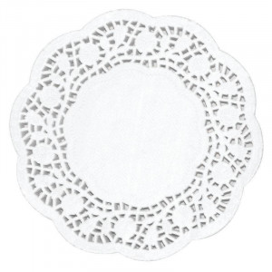 Lot de 250 napperons ronds en papier - 165 mm de diamètre Lot de 250 napperons ronds en papier - 165 mm de diamètre