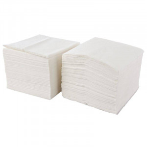 Lot de 5000 serviettes en papier blanches 330 x 330 mm