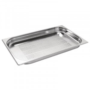 Bac Gastronorm perforé GN 1/1 hauteur 20 mm en inox 18/0 VOGUE