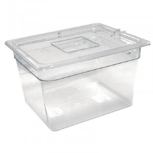 Bac Gastronorm GN 1/2 hauteur 150 mm en polycarbonate transparent VOGUE