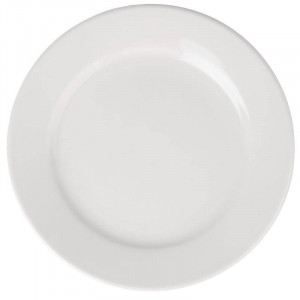 Assiettes à large bord en porcelaine ATHENA Ø 165 mm - Lot de 12
